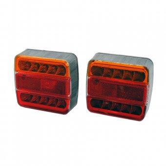 Eurotools LED Schlusslichtsatz 2 tlg. 5 Funktionen 12V 106x98mm