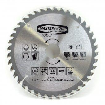 Kreissägenblatt 190 mm, 40 Zähne, Schnittbreite 2,6 mm