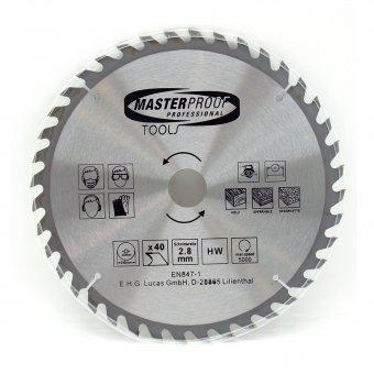 Kreissägeblatt 250mm 40 Zähne Schnittbreite 2,8mm
