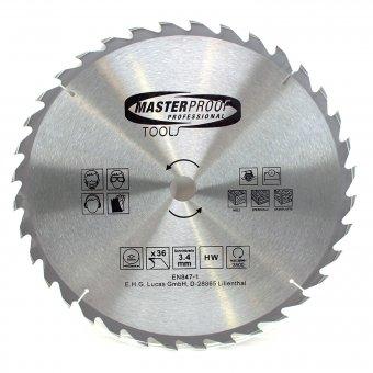 Kreissägeblatt 400 mm, 36 Zähne Schnittbreite 3.4 mm